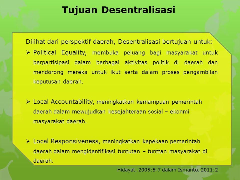 Tujuan Desentralisasi