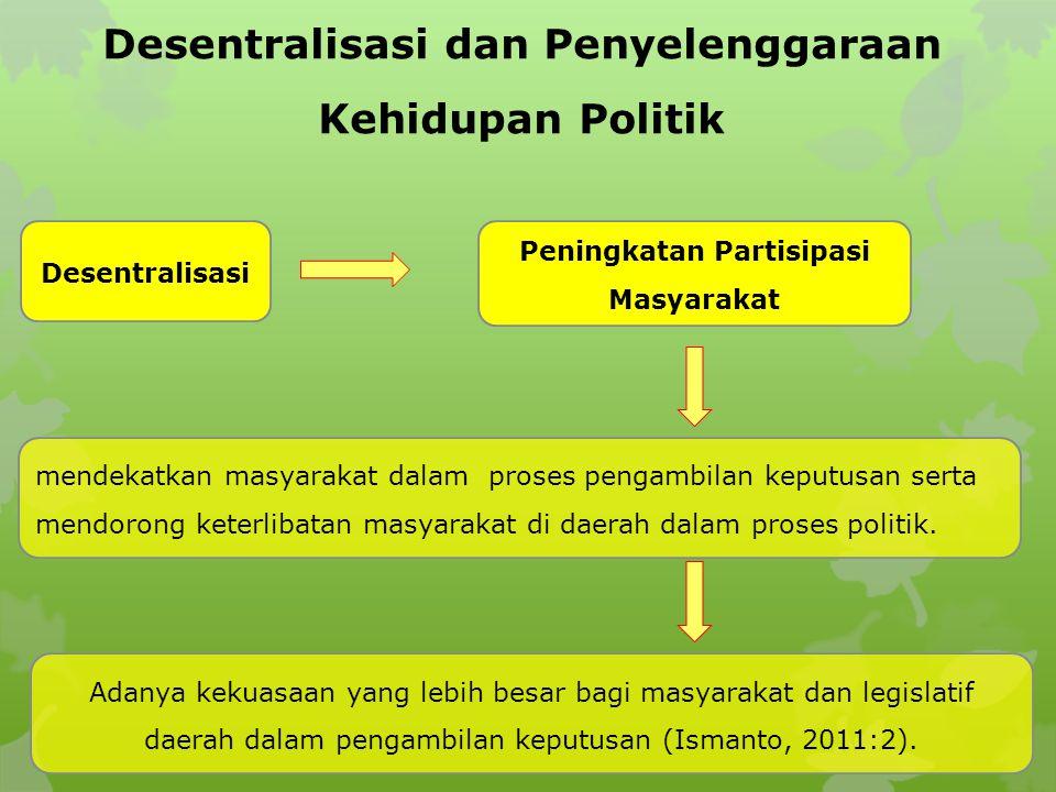 Desentralisasi dan Penyelenggaraan Kehidupan Politik