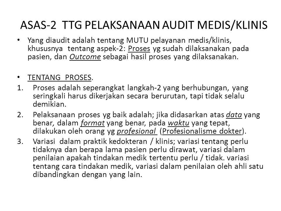 ASAS-2 TTG PELAKSANAAN AUDIT MEDIS/KLINIS