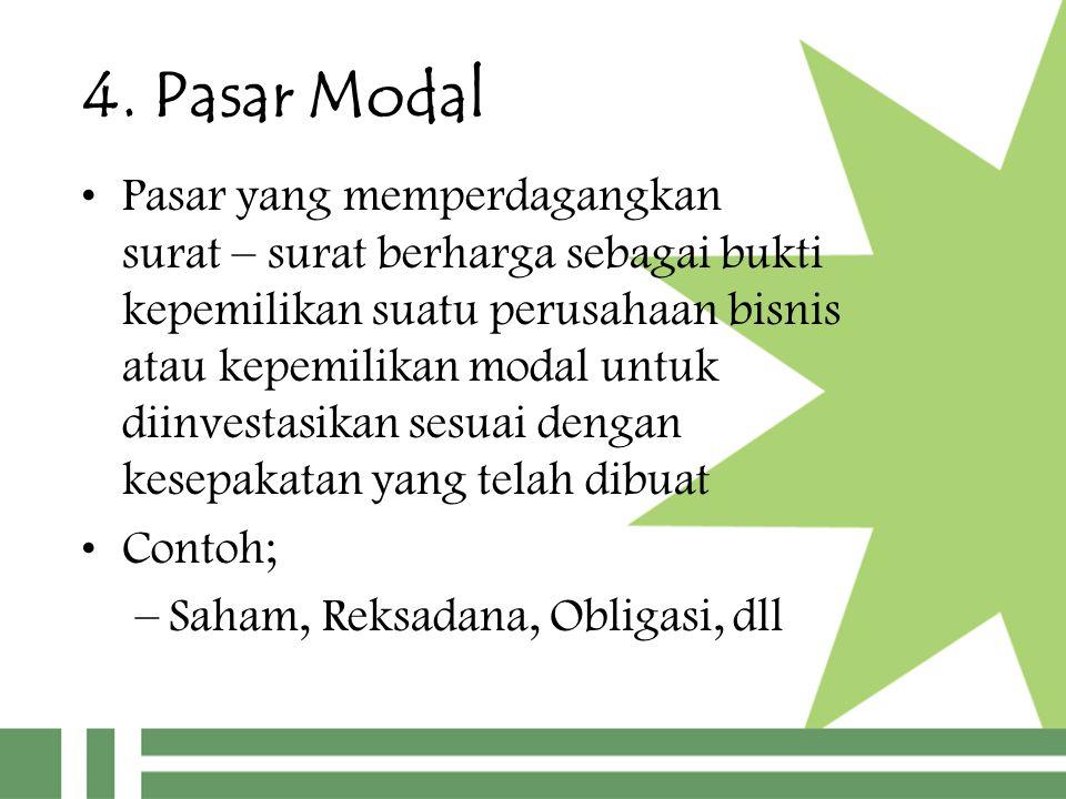 4. Pasar Modal