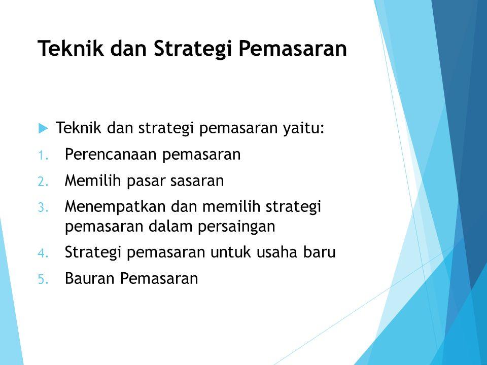 Teknik dan Strategi Pemasaran