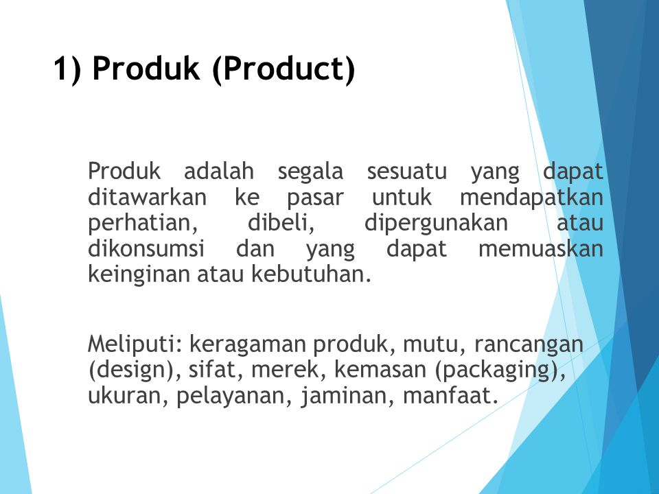 1) Produk (Product)