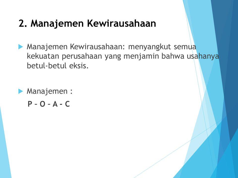 2. Manajemen Kewirausahaan