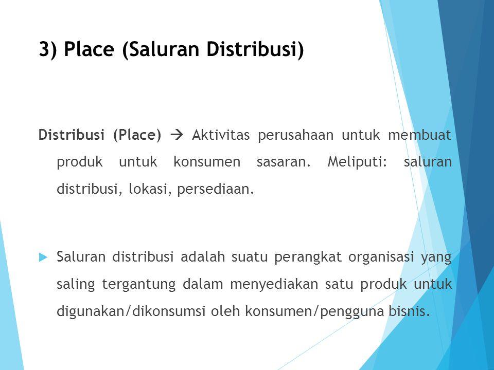 3) Place (Saluran Distribusi)