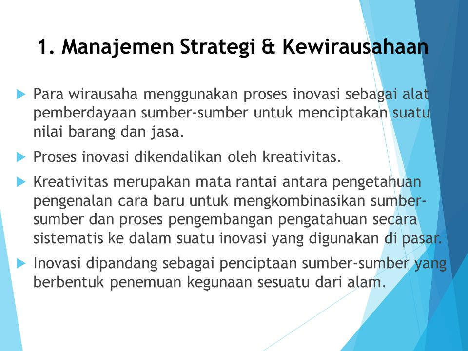 1. Manajemen Strategi & Kewirausahaan