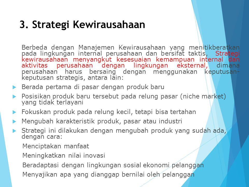 3. Strategi Kewirausahaan
