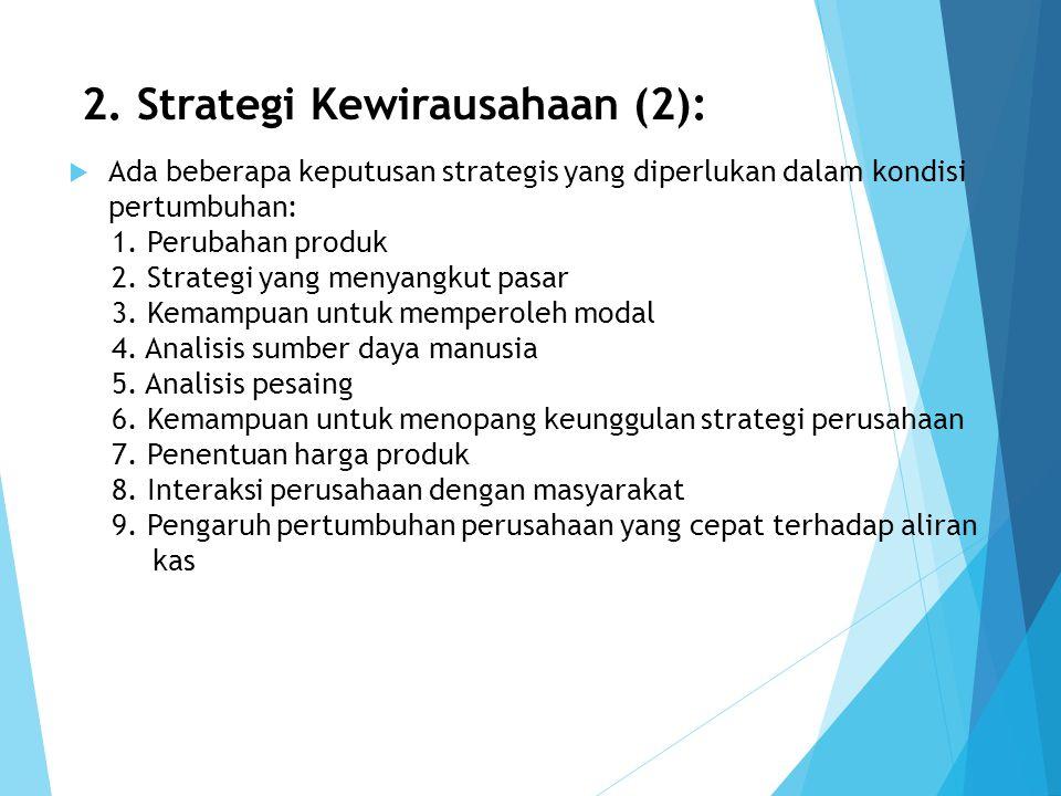2. Strategi Kewirausahaan (2):