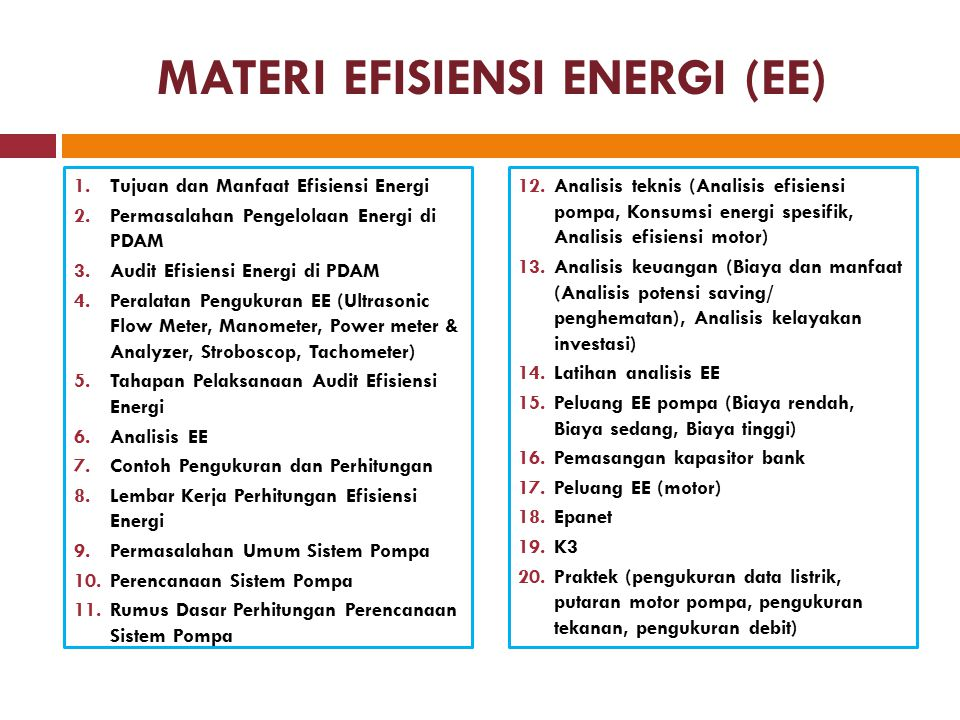 MATERI EFISIENSI ENERGI (EE)