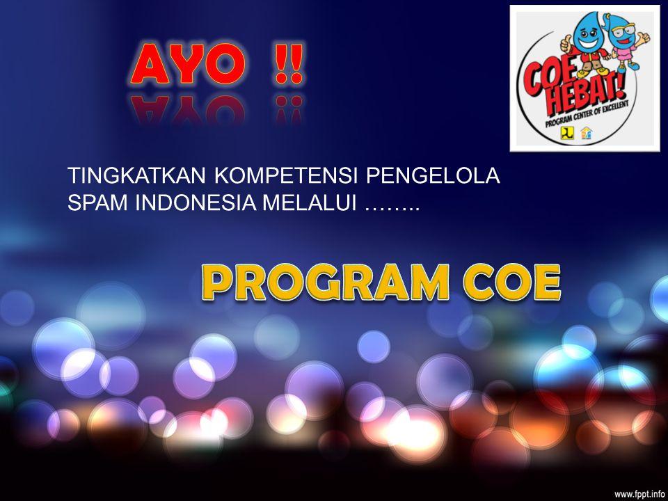 AYO !! TINGKATKAN KOMPETENSI PENGELOLA SPAM INDONESIA MELALUI …….. PROGRAM COE