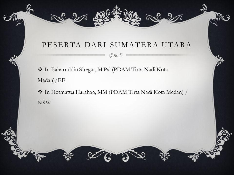 Peserta dari Sumatera utara