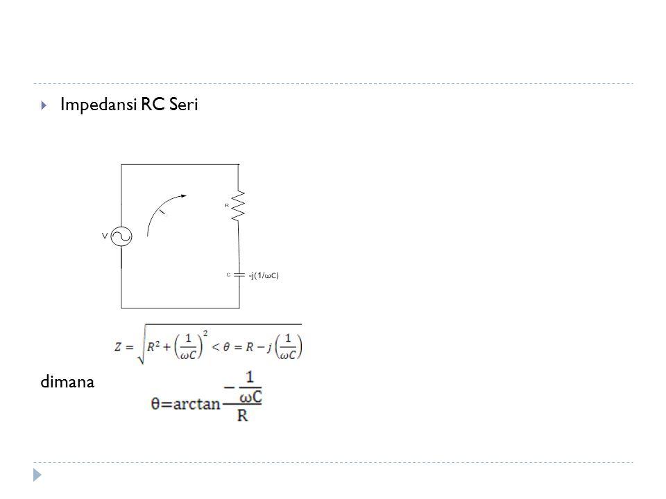 Impedansi RC Seri dimana