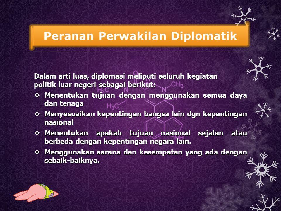 Peranan Perwakilan Diplomatik