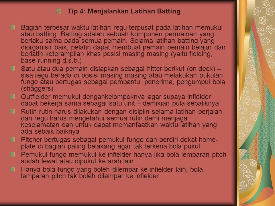 Tip 4: Menjalankan Latihan Batting