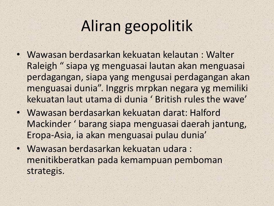 Aliran geopolitik