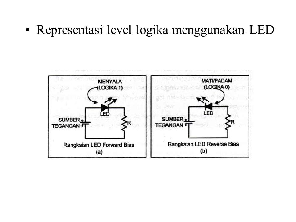 Representasi level logika menggunakan LED