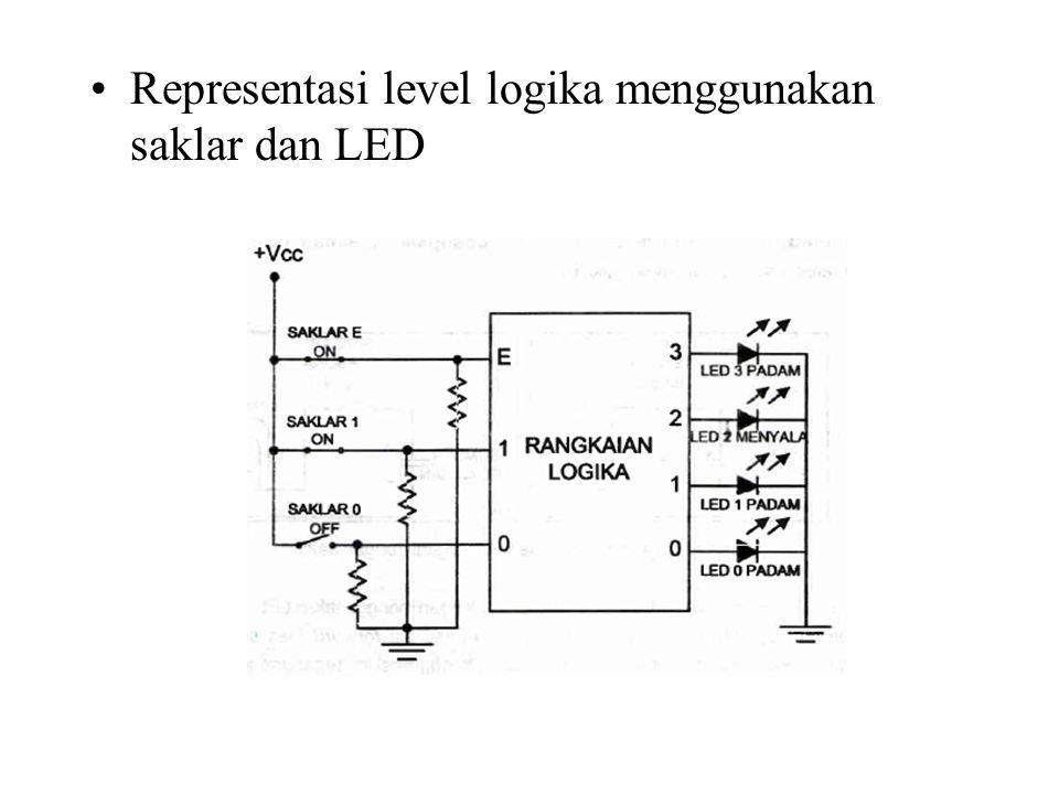Representasi level logika menggunakan saklar dan LED
