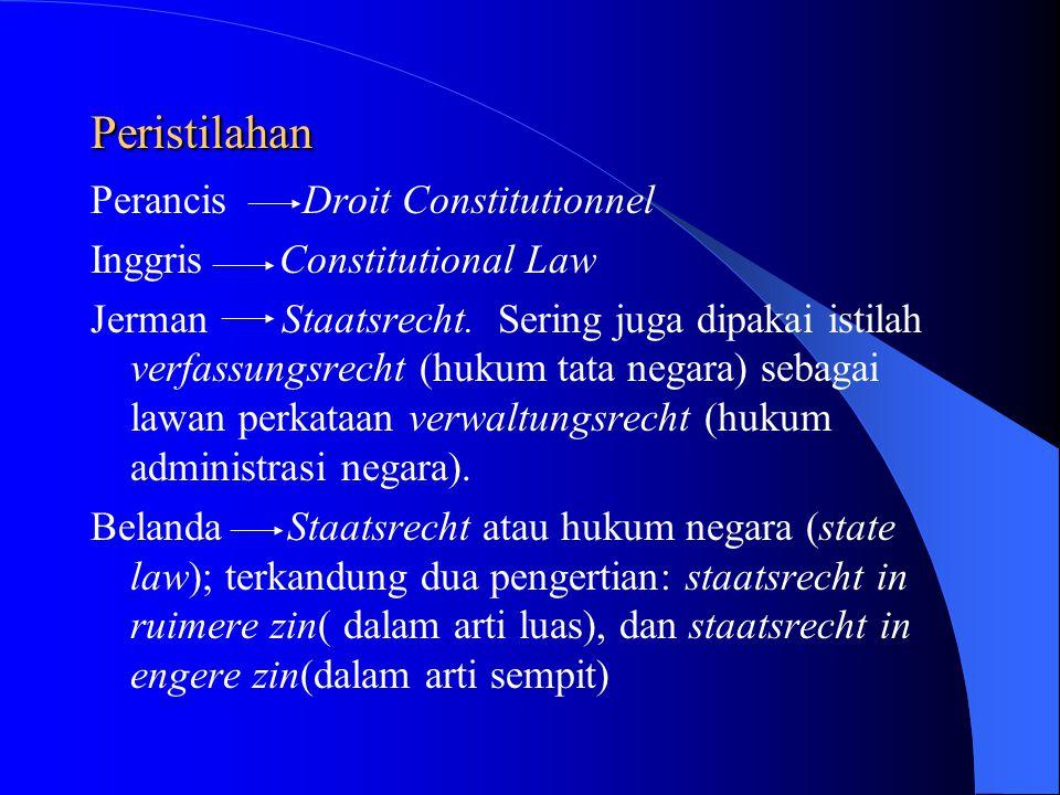 Peristilahan Perancis Droit Constitutionnel Inggris Constitutional Law