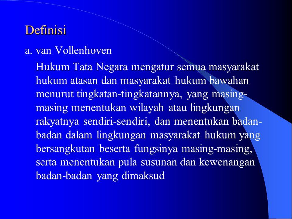 Definisi a. van Vollenhoven