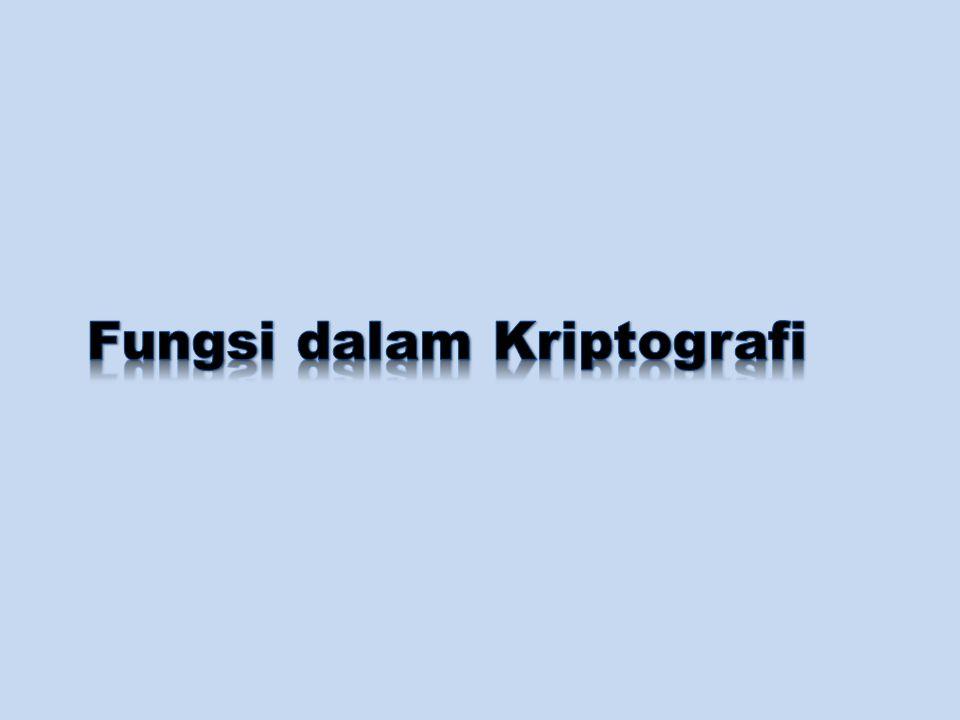 Fungsi dalam Kriptografi