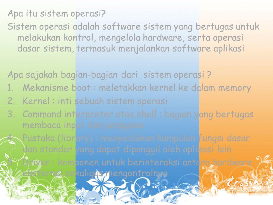 Apa itu sistem operasi