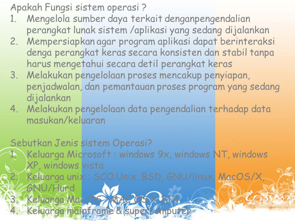 Apakah Fungsi sistem operasi