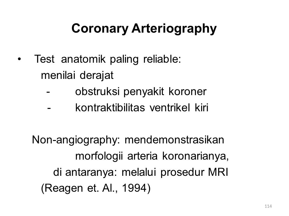 Coronary Arteriography