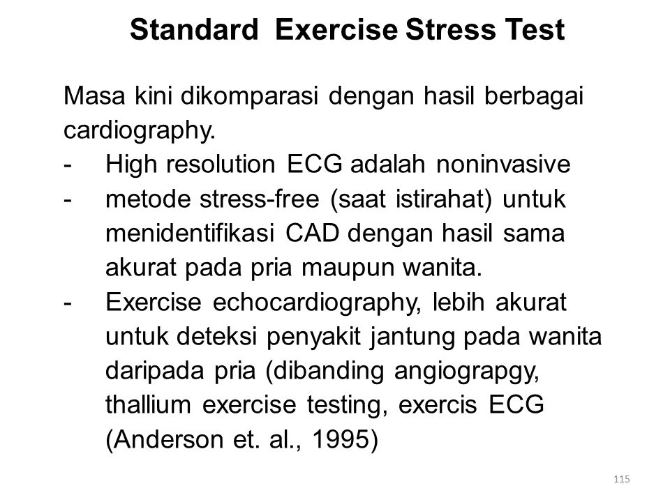 Standard Exercise Stress Test