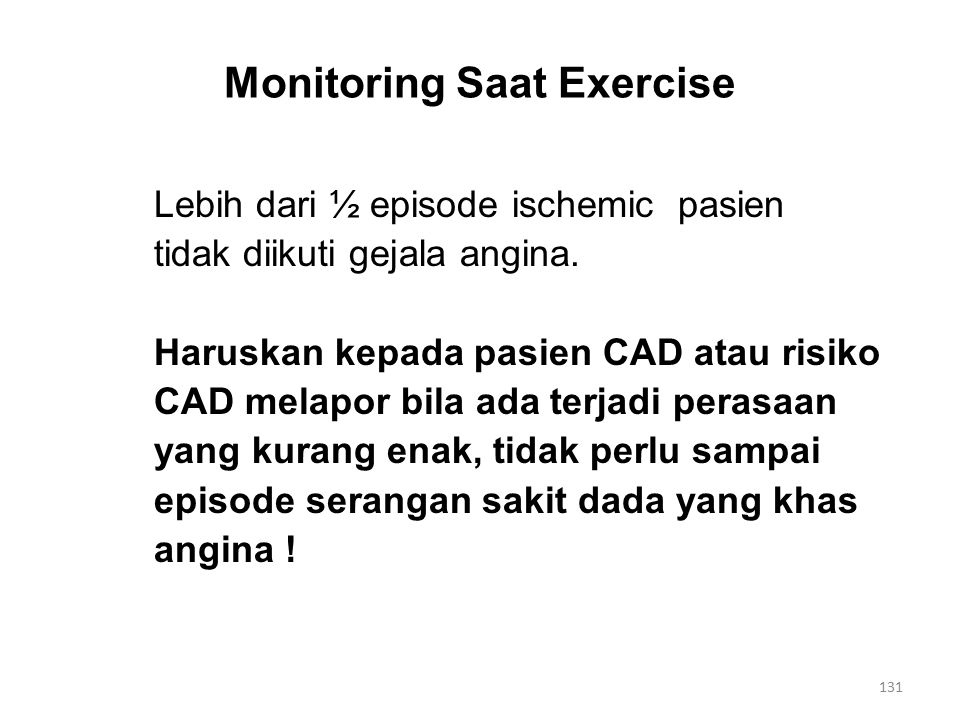 Monitoring Saat Exercise