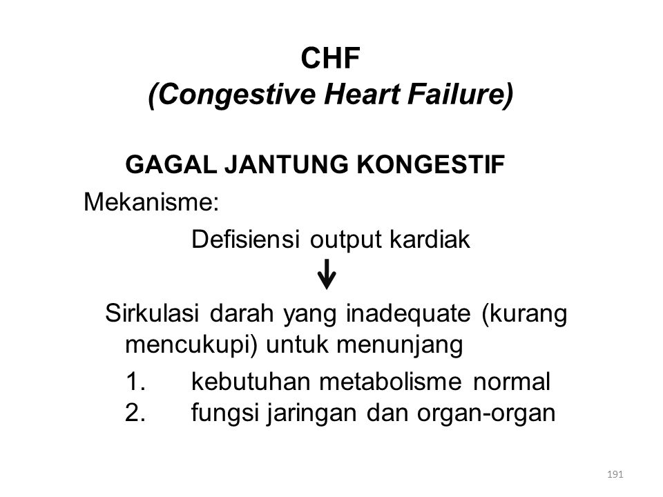 CHF (Congestive Heart Failure)