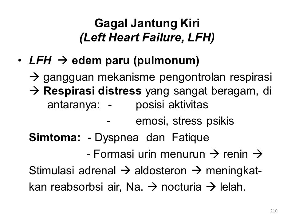 Gagal Jantung Kiri (Left Heart Failure, LFH)