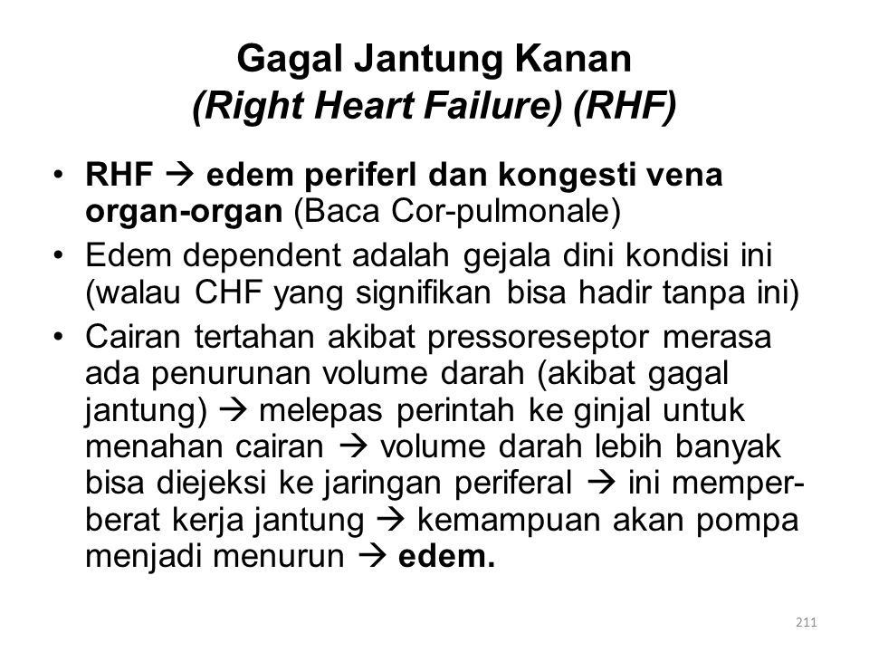 Gagal Jantung Kanan (Right Heart Failure) (RHF)