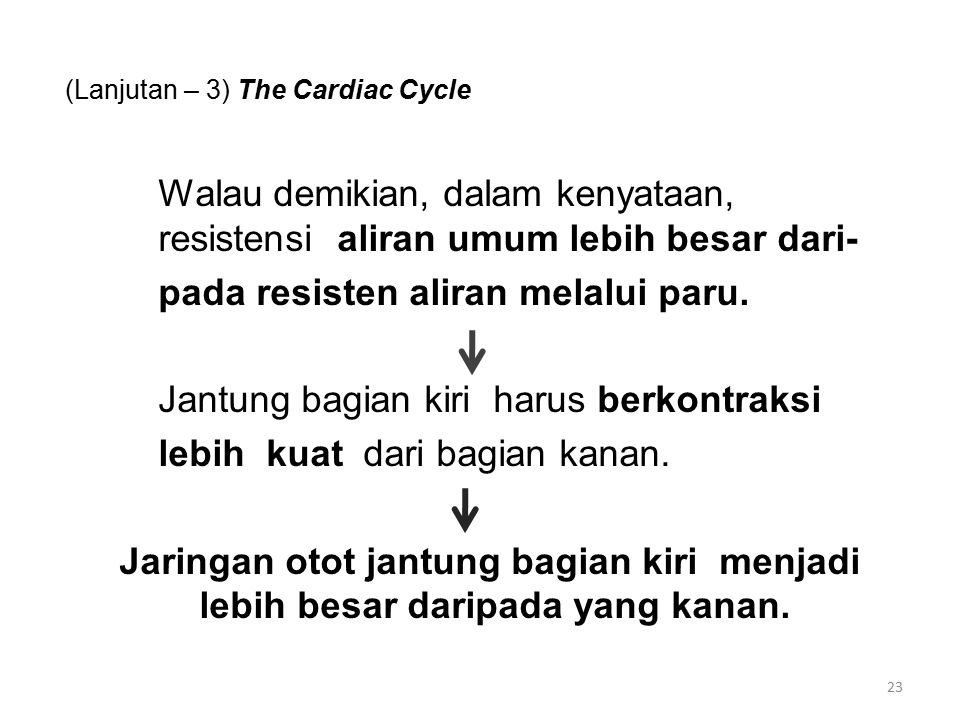 (Lanjutan – 3) The Cardiac Cycle