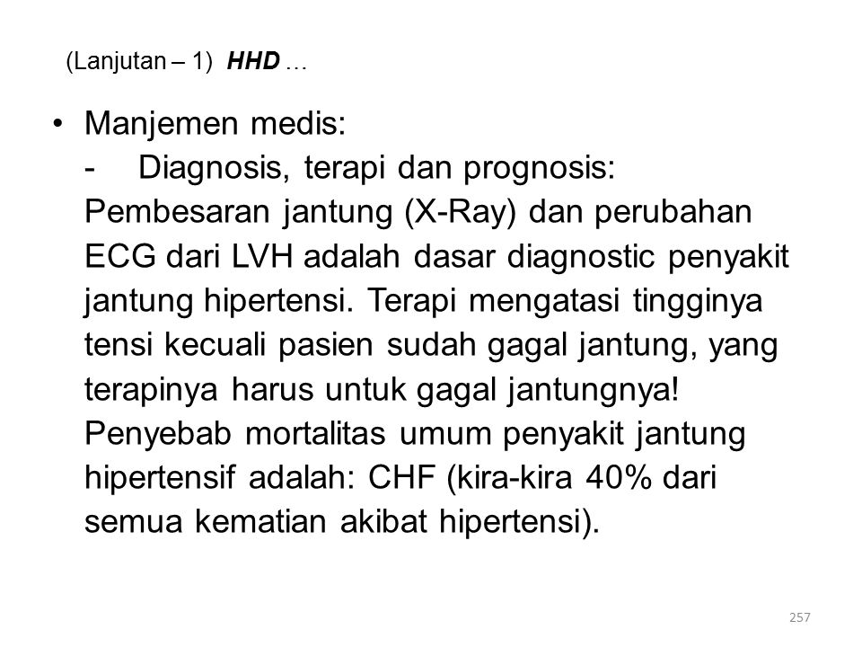 - Diagnosis, terapi dan prognosis: