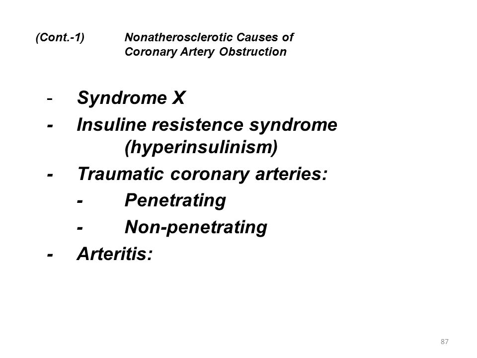 (Cont.-1) Nonatherosclerotic Causes of Coronary Artery Obstruction