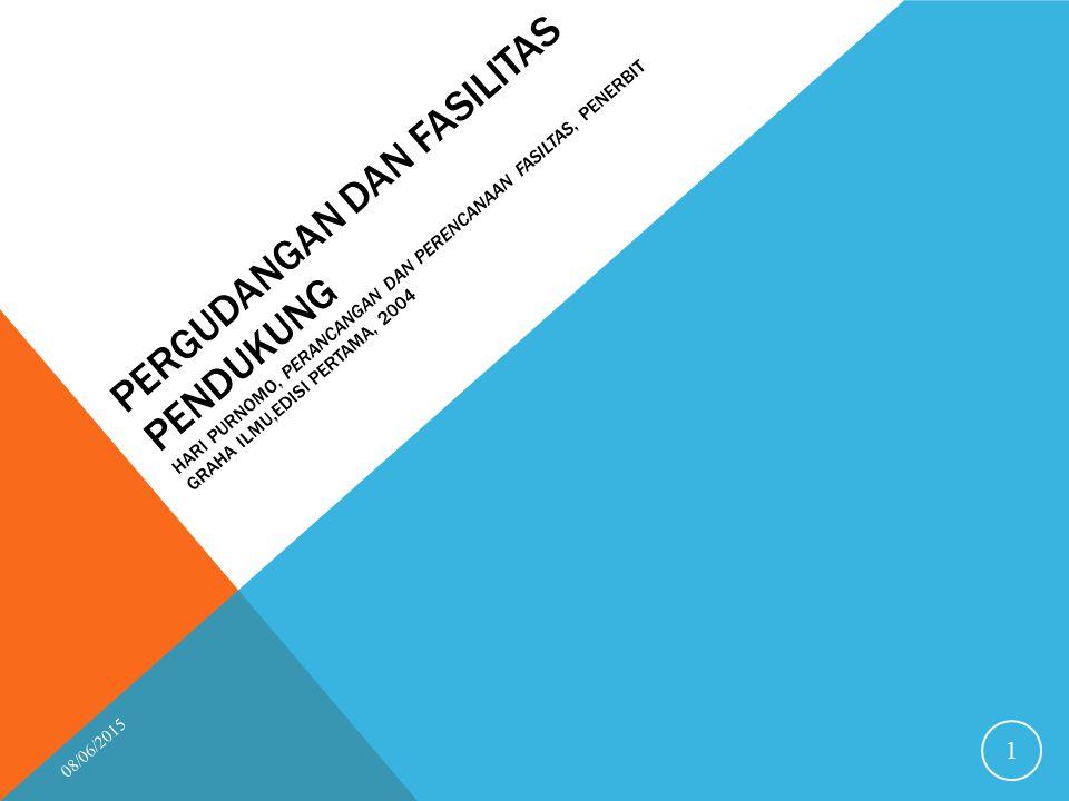 Pergudangan Dan Fasilitas Pendukung Hari Purnomo, Perancangan dan Perencanaan Fasiltas, Penerbit Graha Ilmu,Edisi pertama, 2004