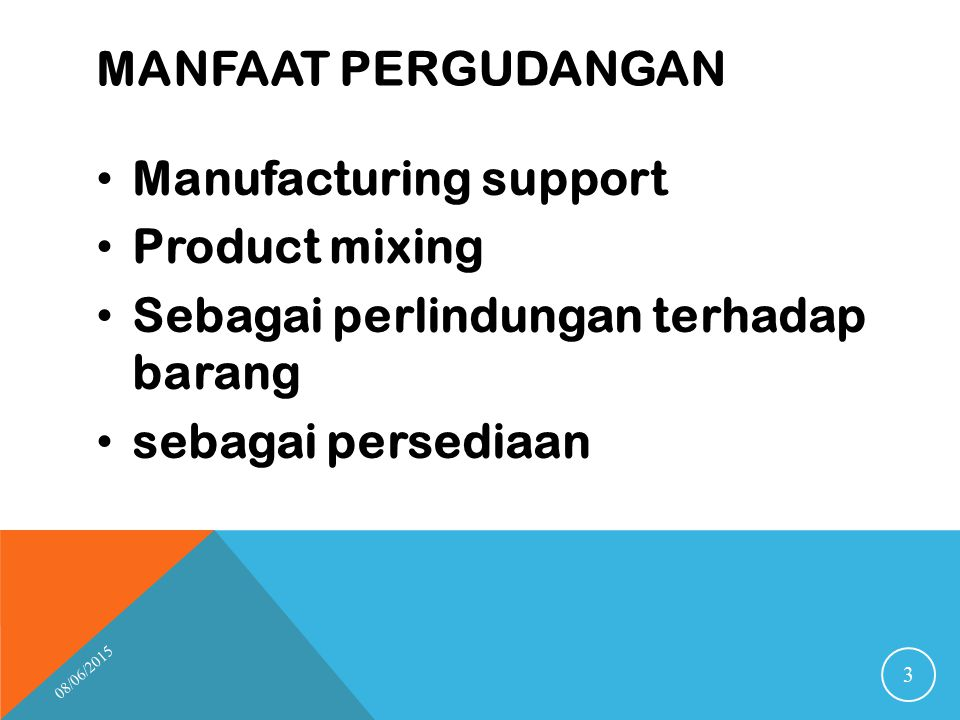 Manufacturing support Product mixing