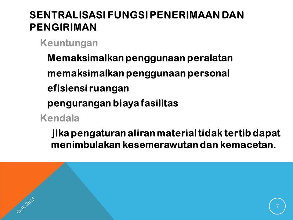 sentralisasi fungsi penerimaan dan pengiriman