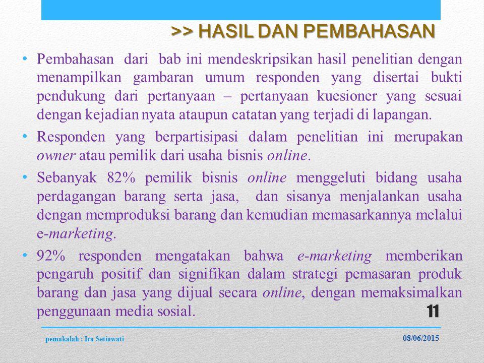 >> HASIL DAN PEMBAHASAN