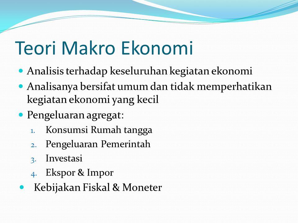Teori Makro Ekonomi Analisis terhadap keseluruhan kegiatan ekonomi