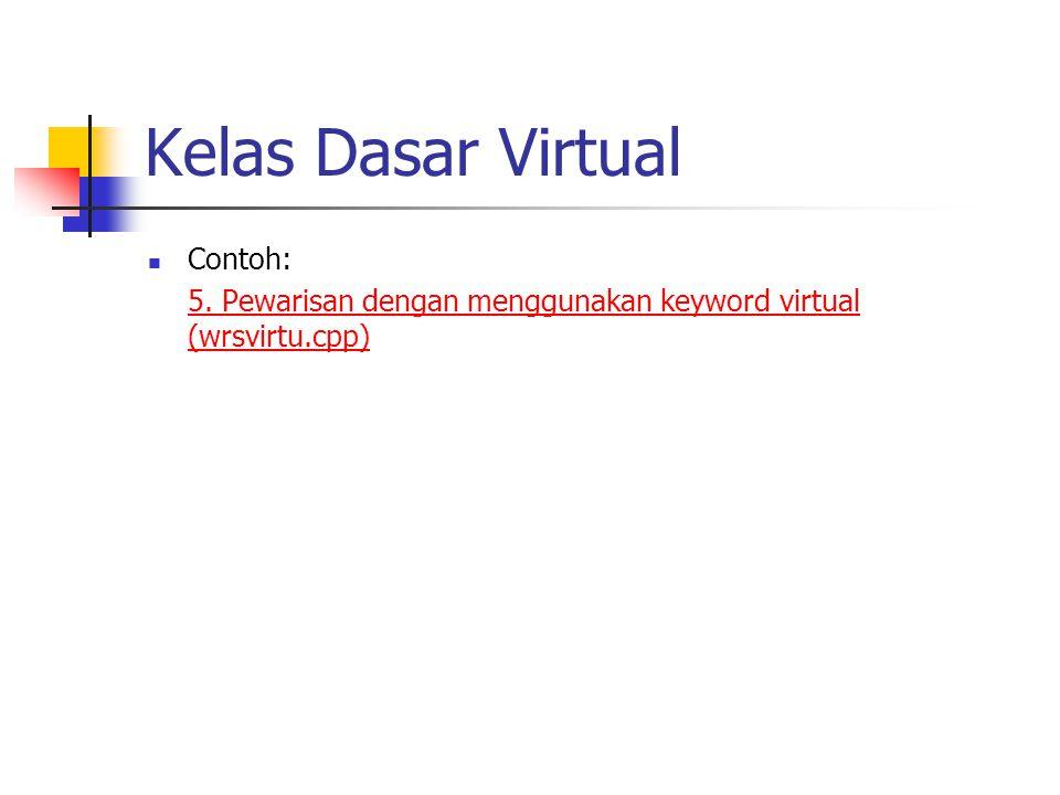 Kelas Dasar Virtual Contoh: