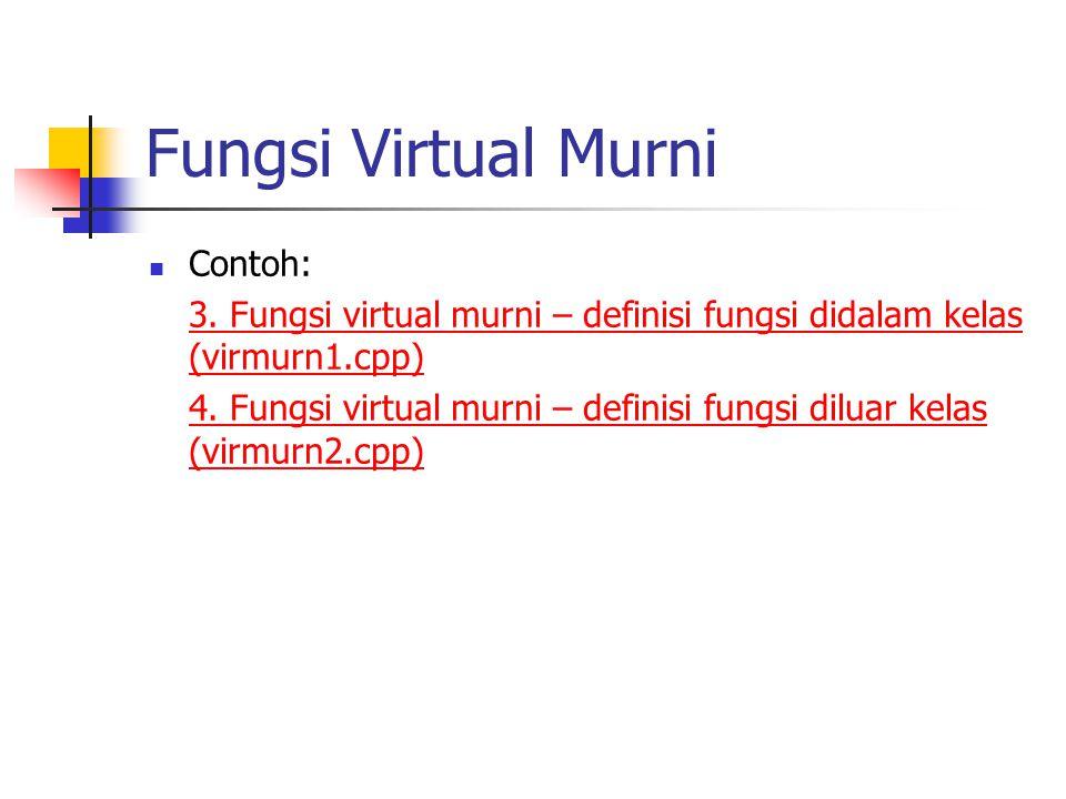 Fungsi Virtual Murni Contoh: