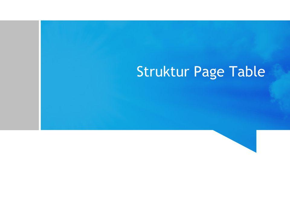 Struktur Page Table