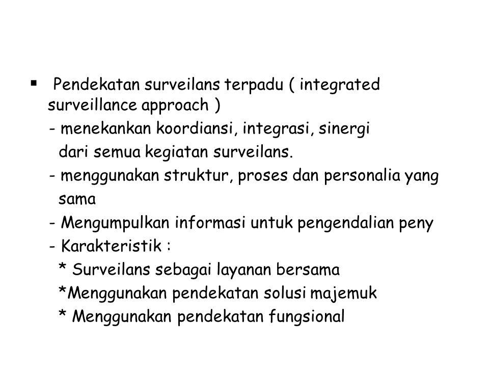 Pendekatan surveilans terpadu ( integrated surveillance approach )
