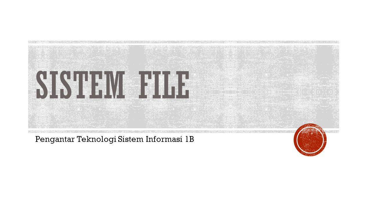 Pengantar Teknologi Sistem Informasi 1B