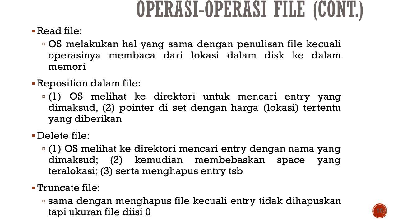 Operasi-operasi File (cont.)