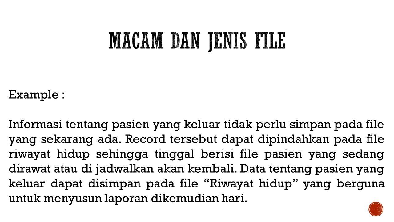 Macam dan Jenis File Example :