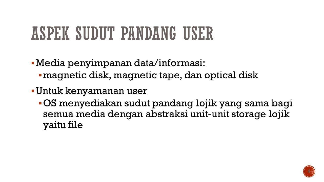 Aspek Sudut Pandang User