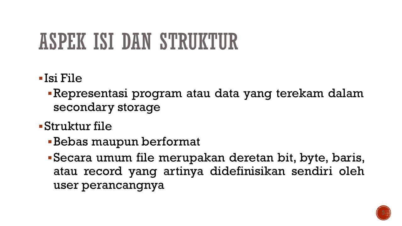 Aspek Isi dan Struktur Isi File