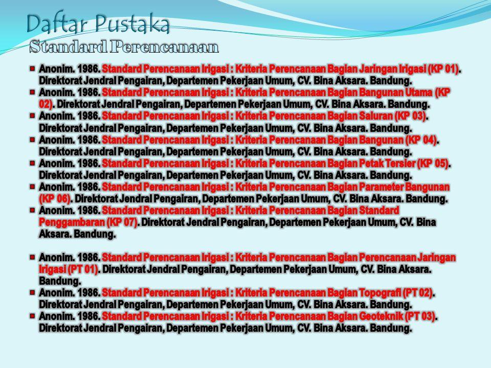 Daftar Pustaka Standard Perencanaan