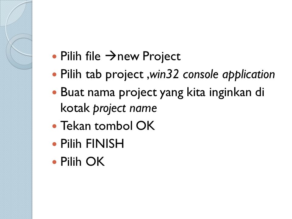 Pilih file new Project